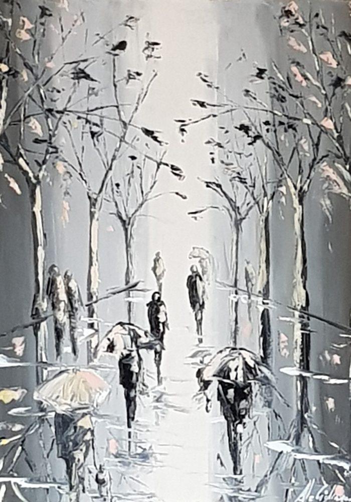 Autumn leaves – olio su tela, 50x40cm