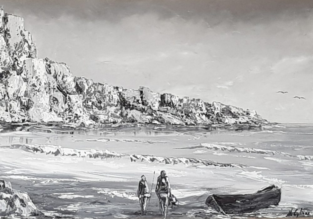 Padre e figlio – olio su tela, 60x80cm
