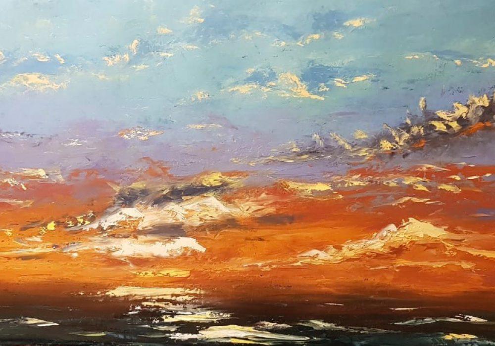 Sunset – olio su tela, 50x80cm